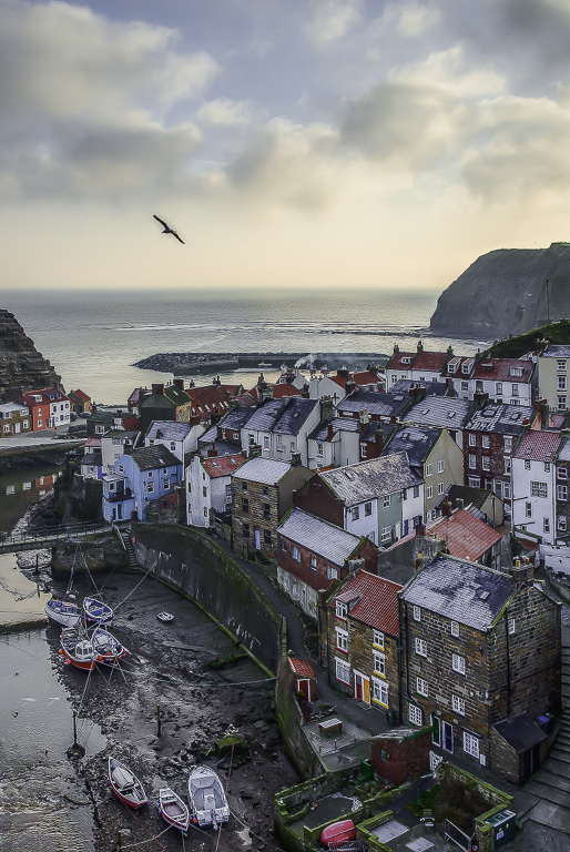 Advanced Colour Prints - HC - Staithes Frosty Morning by Jeff Saunders  (January 2014)