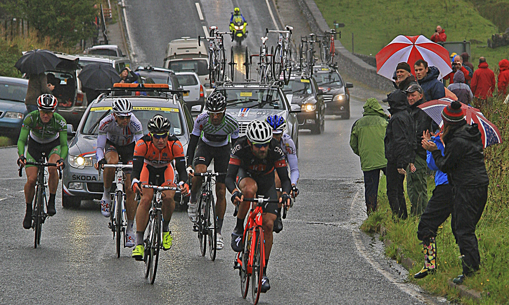Advanced Projected Images - First - Wet Day On The Tour of Britain by Brian Hinvest (January 2014)