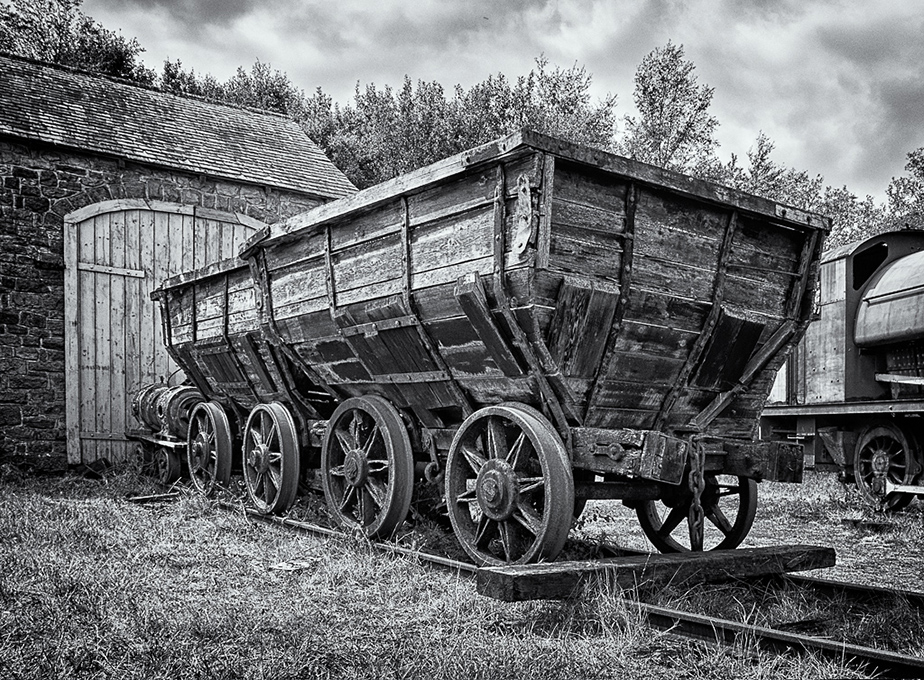 Advanced Monochrome Prints - Second - Old Coal Wagons by Tim Booth (October 2014)