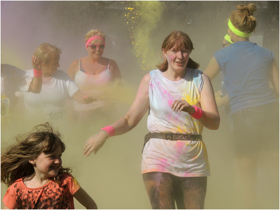 Advanced Projected Images - Third - Colour Run by Lawrence Graham (October 2014)