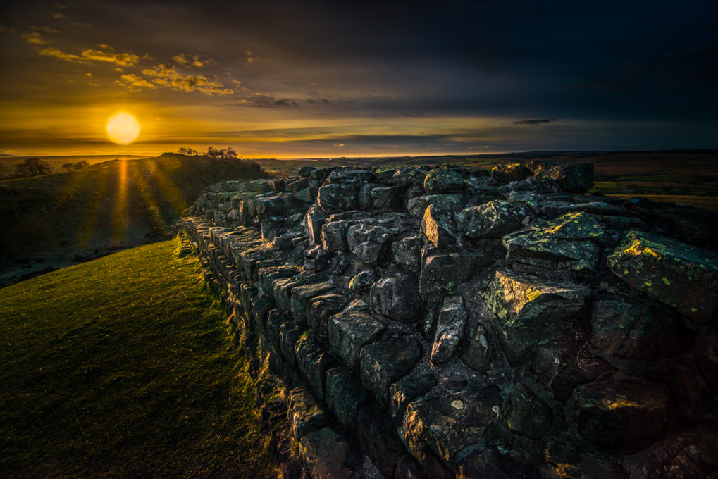 Advanced Projected Images - Third - Hadrian's Wall Sunset by Alan Sawyer (November2014)
