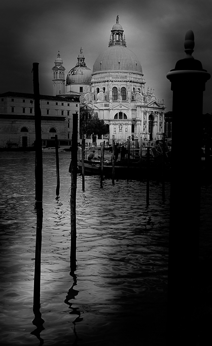 Advanced Mono Prints - HC - Santa  Maria Della Salute by Steve McLellan (January 2016)
