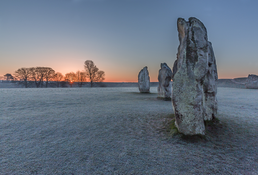 Advanced Projected Images - HC - Frosty Sunrise At Avebury by Jeff Saunders (November 2015)