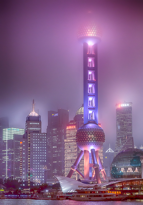 Advanced Projected Images - HC - Shanghai Oriental Pearl Tower by Jeff Saunders (January 2016)
