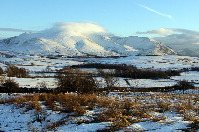 Newcomers Projected Images - HC - Winter Sunlight On Skiddaw by Rachel Bonington (January 2016)