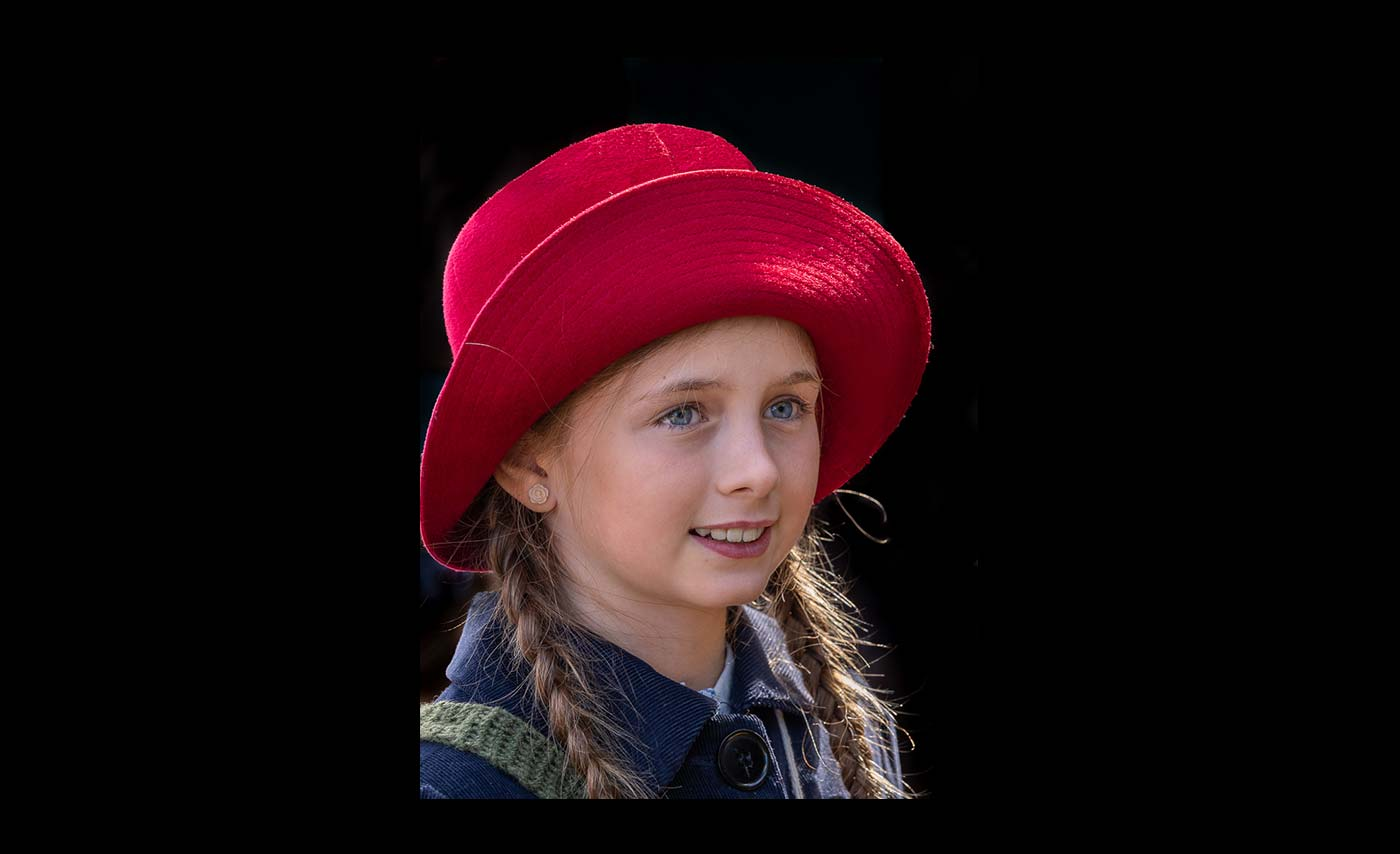 Advanced Colour Prints - HC - Girl With Red Hat by Jeff Saunders