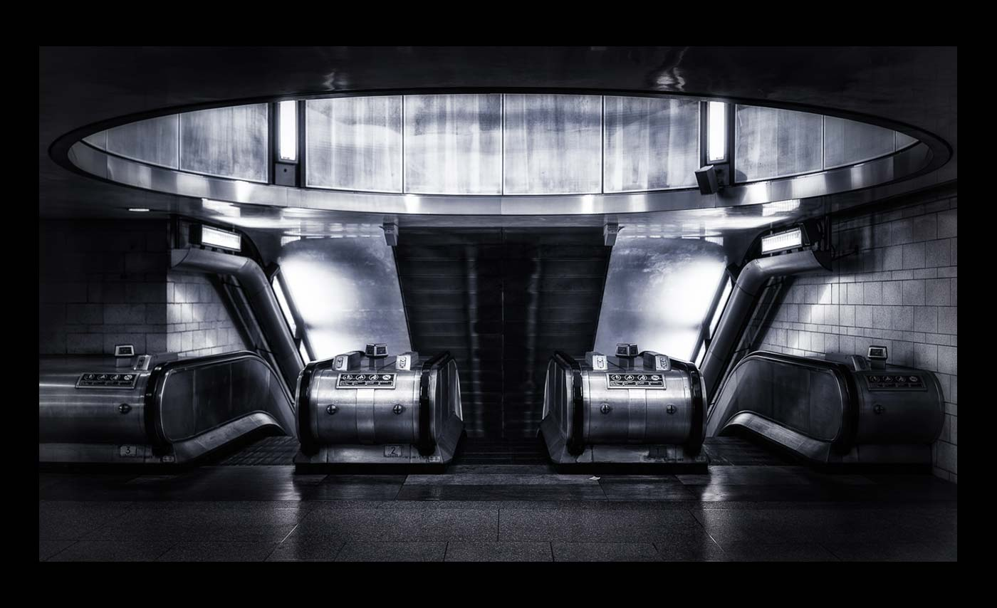 Advanced Monochrome Prints - First - Non Place Station by Steve McLellan