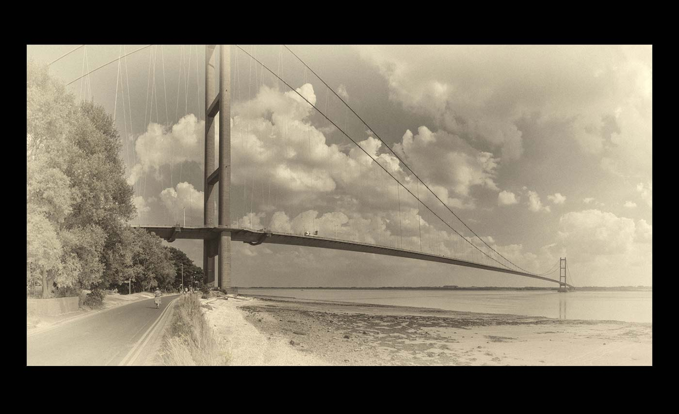 Club Mono Prints - Third - The Humber Bridge by Derek Nash