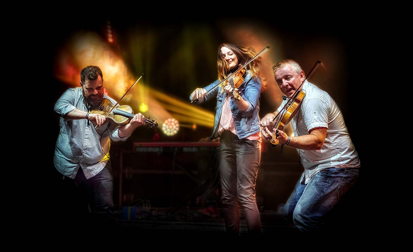 Club Projected Images - First - Blazin' Fiddles by Trevor Wright