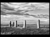 Club Mono Prints - Third - Setting Sun On Brodgar by Simon Wood
