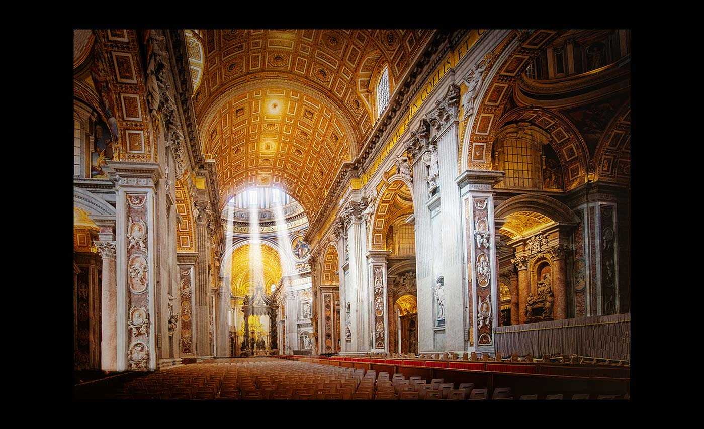 Advanced Colour Prints - HC - St Peters Gold by Mike Hughes