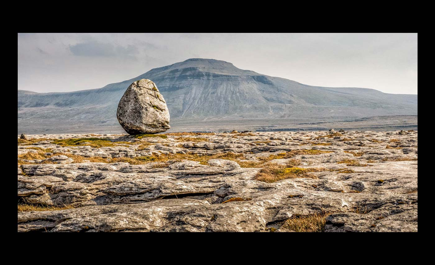 Advanced Projected Digital Images - HC - Limestone Pavement Erratic by Brian Hinvest