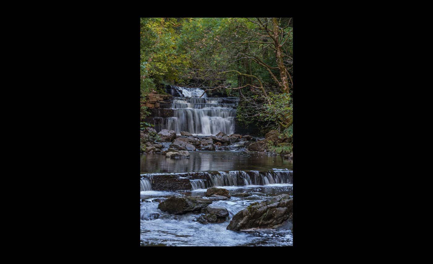 Club Class Colour Prints - HC - Waterfall near Alston by Patricia Martin