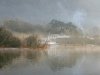 Misty Morning Derwent Water by Brian Hinvest