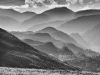 Advanced Monochrome Prints - First - Distant Hills by Alan Thomson