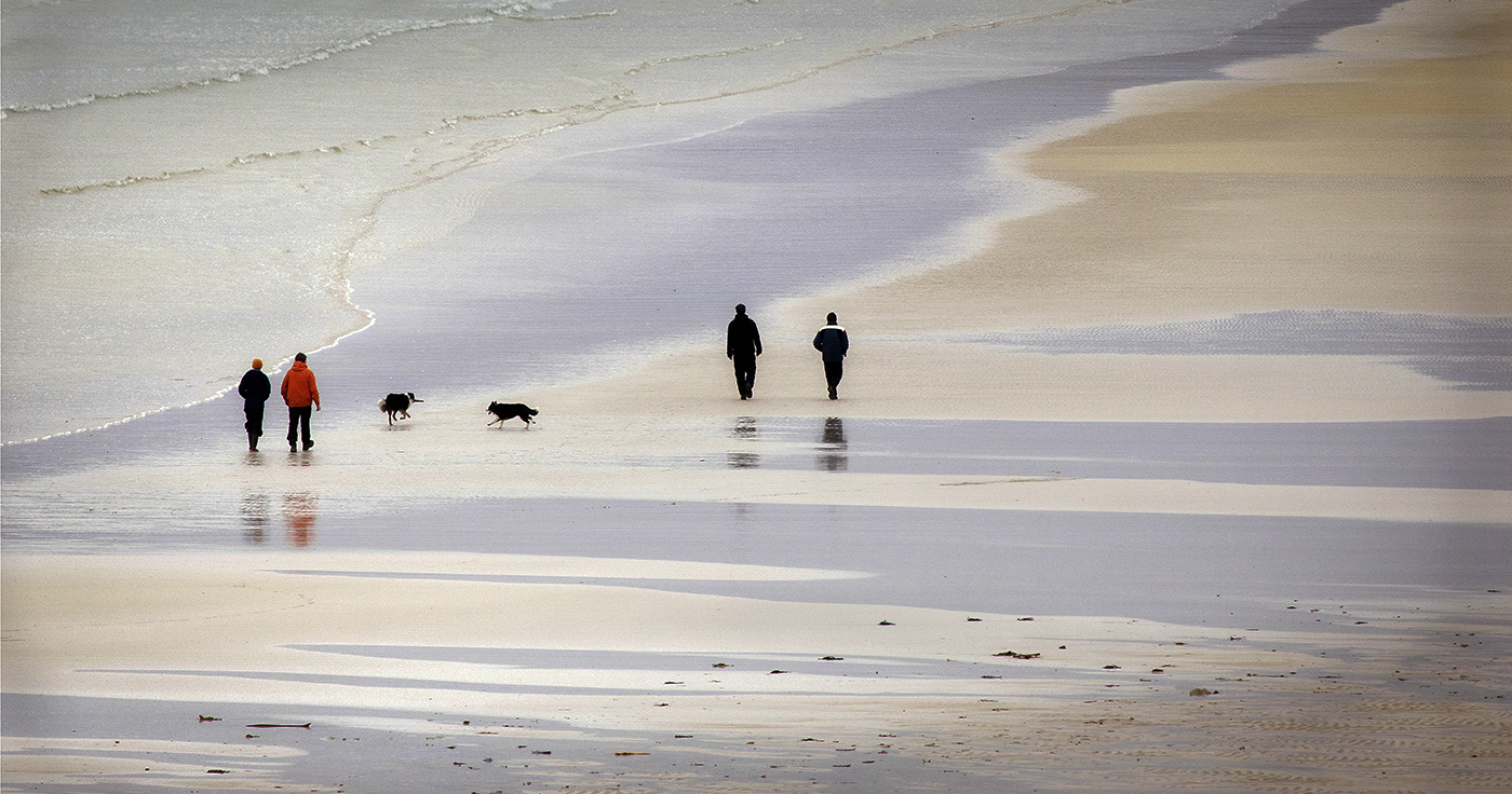 Advanced Projected Images - HC - A Walk On The Beach by Alan Thomson