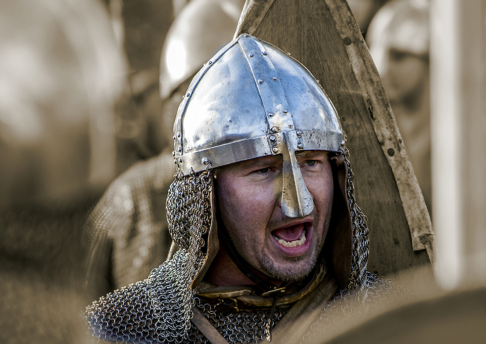 Newcomers Prints - First - Viking Battle Cry by Trevor Wright