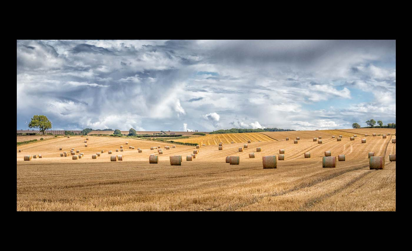 Advanced Projected Images - Second - Harvest Time On The Yorkshire Wolds by Brian Hinvest