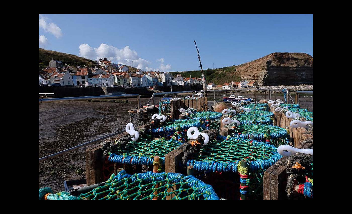 Club Projected Images - Third - Lobster Pots - Staithes by Malcolm Iredale