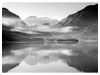 Old Hands Mono Prints - HC- Misty Derwent by Dennis Balmer