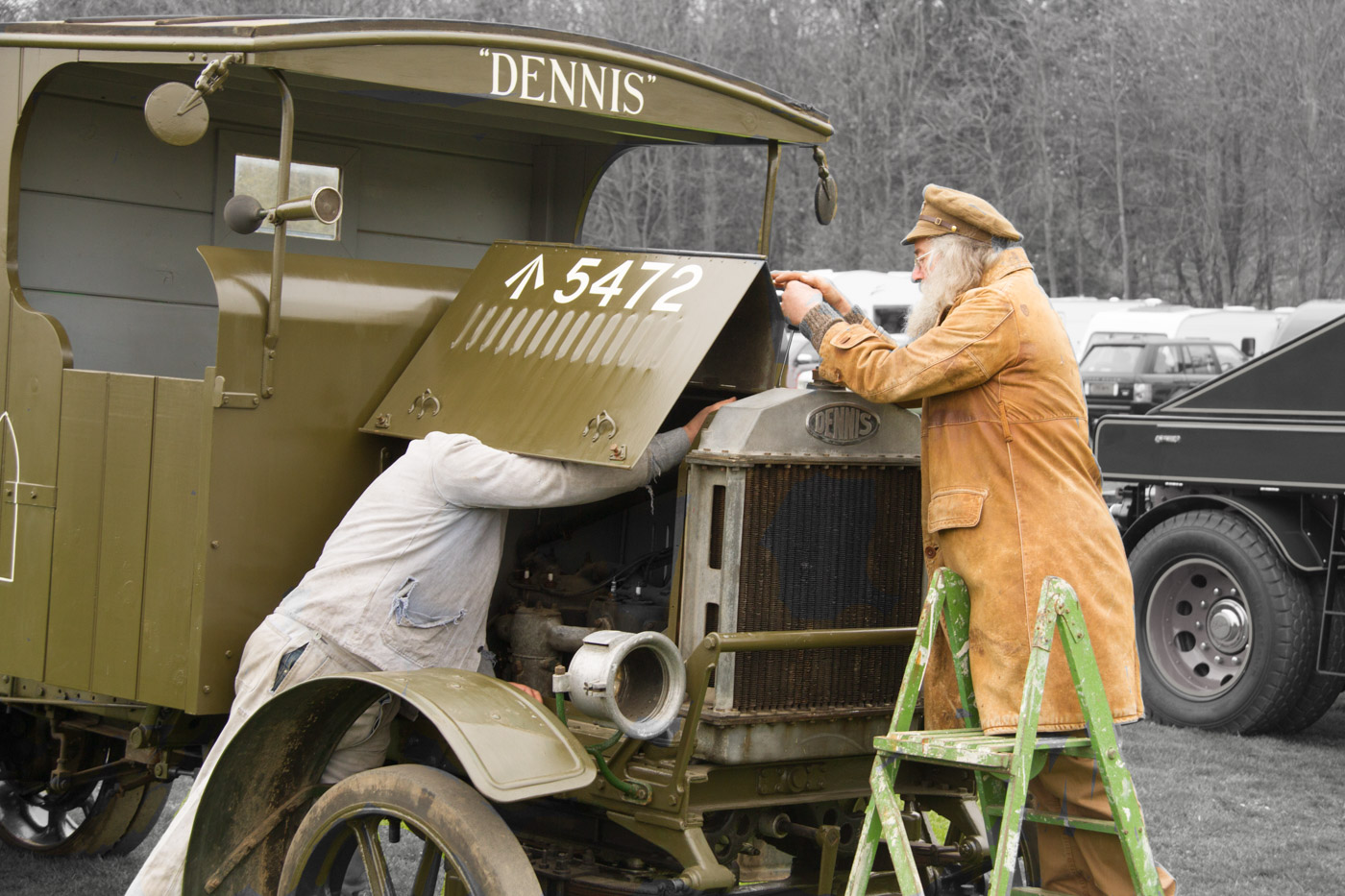 Advanced Projected Images - HC - Mending Dennis by Brian Hinvest