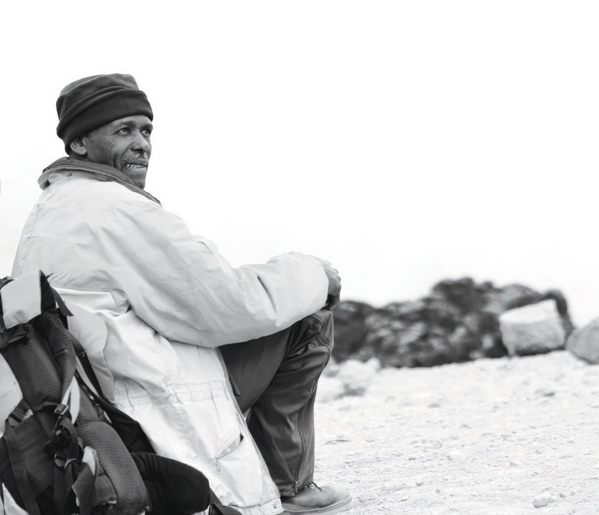 Newcomers Projected Images - Second  - Resting Sherpa On Kilimanjaro by John Baird
