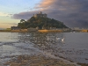 Advanced Projected Images - HC - St Michael's Mount Swans at Dawn by Barry Heaton