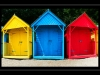 Newcomers Projected Images - First - Llanbedrog Beach Huts by Trevor Wright