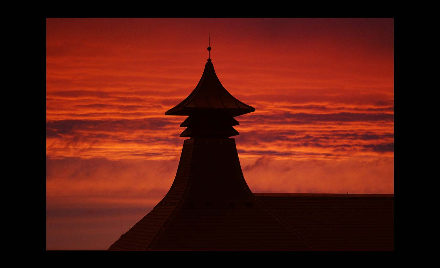 Club Projected Images - C - Northern Light - Sunset Over Orkney Brewery by Simon Wood