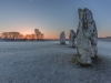Advanced Projected Images - HC - Frosty Sunrise At Avebury by Jeff Saunders