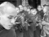 Advanced Monochrome Prints - Commended - Monks Queueing for Food by Pax Garabedian
