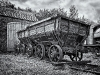 Advanced Monochrome Prints - Second - Old Coal Wagons by Tim Booth