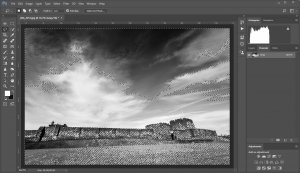 Photoshop-Select Black to Mid Gray