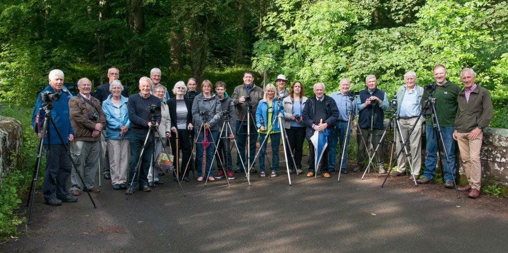 Carlisle Camera Club group photo at Low Gelt Bridge